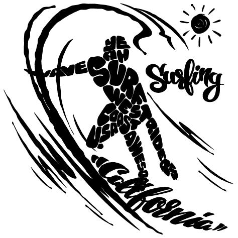 Sticker Surfing California