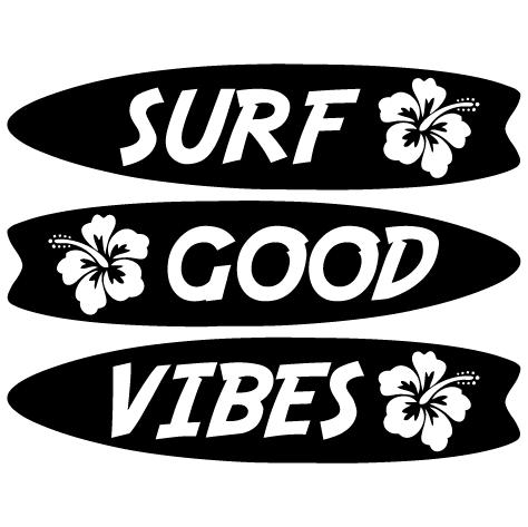 Sticker Surf Good Vibes
