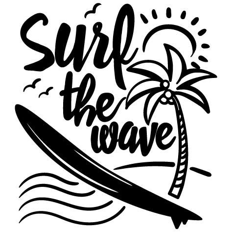 Sticker Surf the Wave