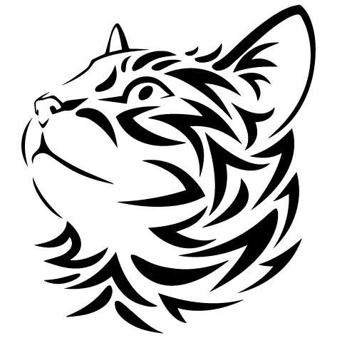 Sticker tête de chat : 03