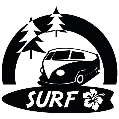 Sticker Van Surf Hossegor