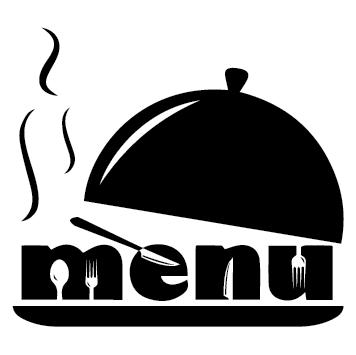 Sticker vitrine menu