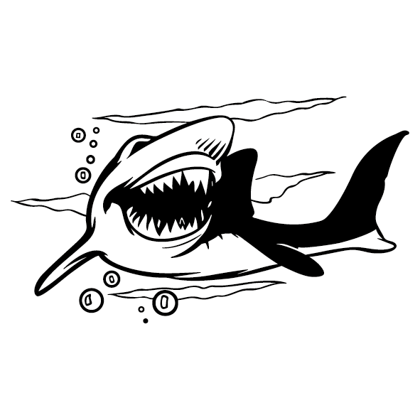 Sticker requin : 1