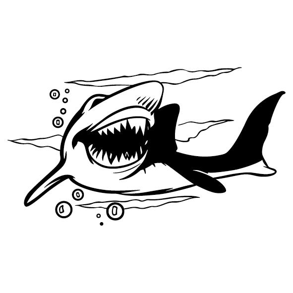 Achat Sticker requin - 1