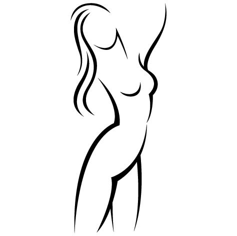 Sticker buste Femme nue
