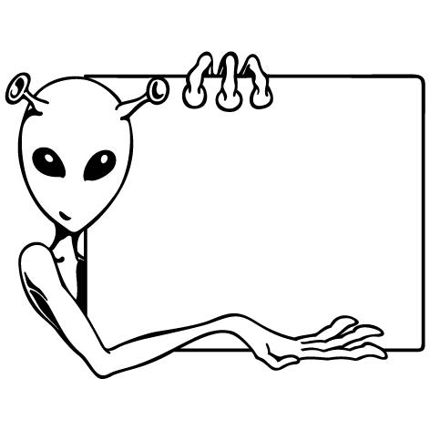 Sticker alien : SA02