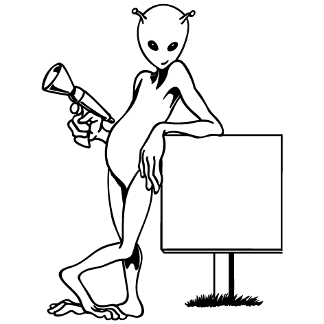 Sticker alien : SA06