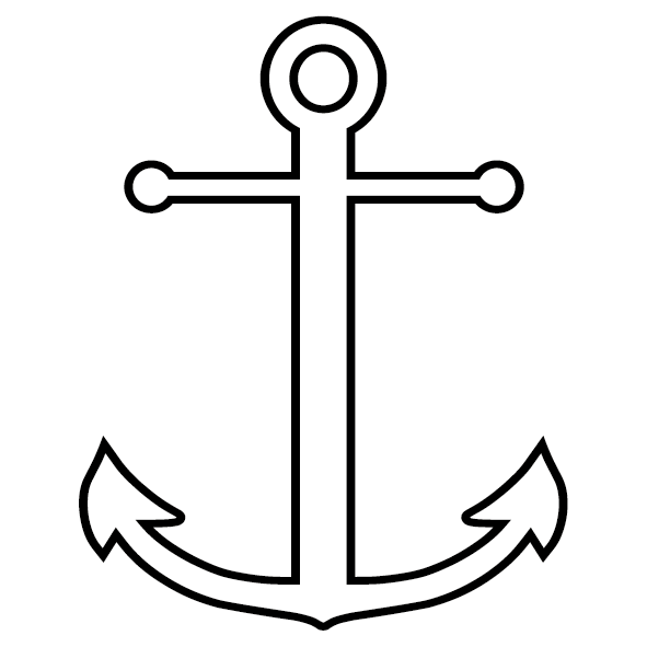Sticker ancre marine 03 ultra r sistant petits prix lettres adh sives 26 - Ancre de bateau dessin ...