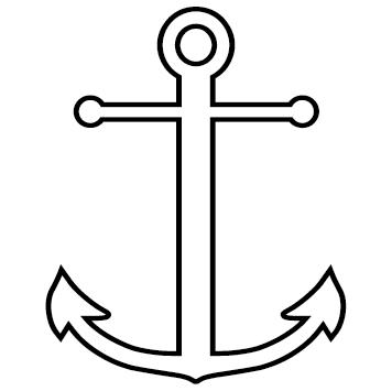 Sticker ancre marine : 03
