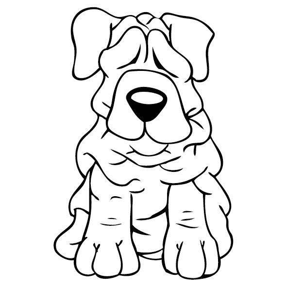 Sticker bébé chien