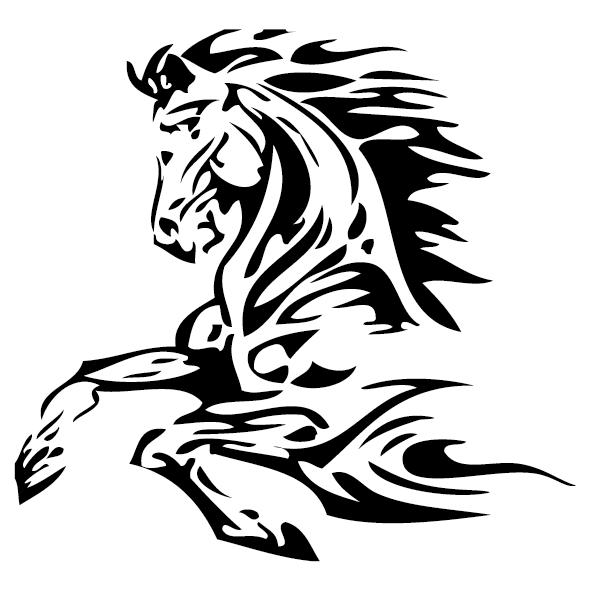 Sticker cheval : 4