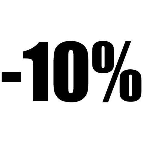 Chiffre autocollant -10%