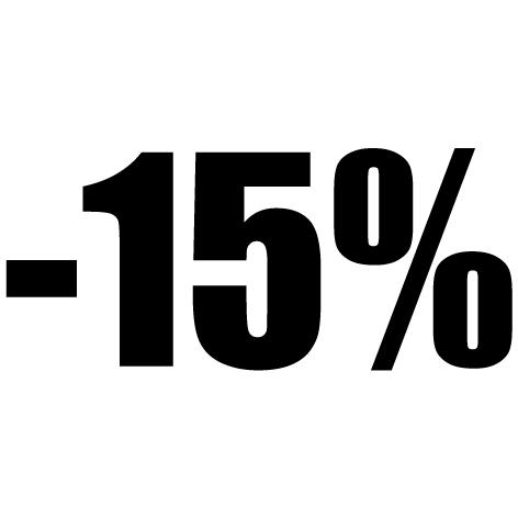 Chiffre autocollant -15%