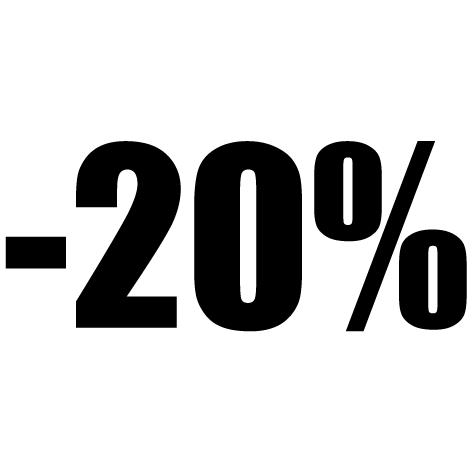 Chiffre autocollant - 20%