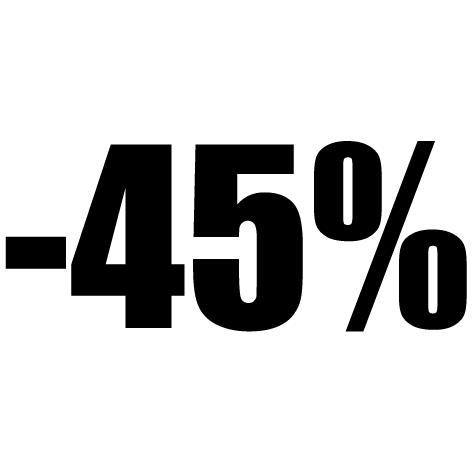 Chiffre autocollant - 45%