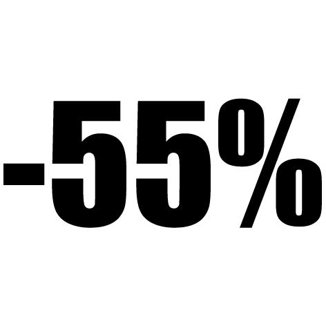 Chiffre autocollant - 55%