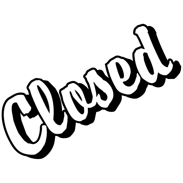 Sticker closed