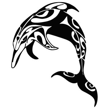 Sticker dauphin tribal