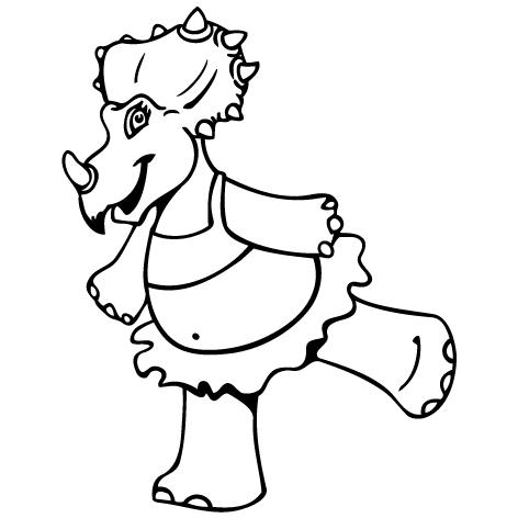 Sticker dinosaure : STD02