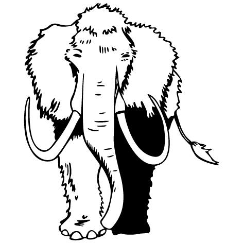 Sticker mammouth : STD10
