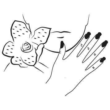 Sticker esthéticienne Visage : 04
