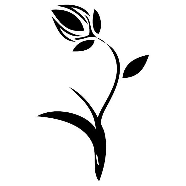 Sticker fleur : 02