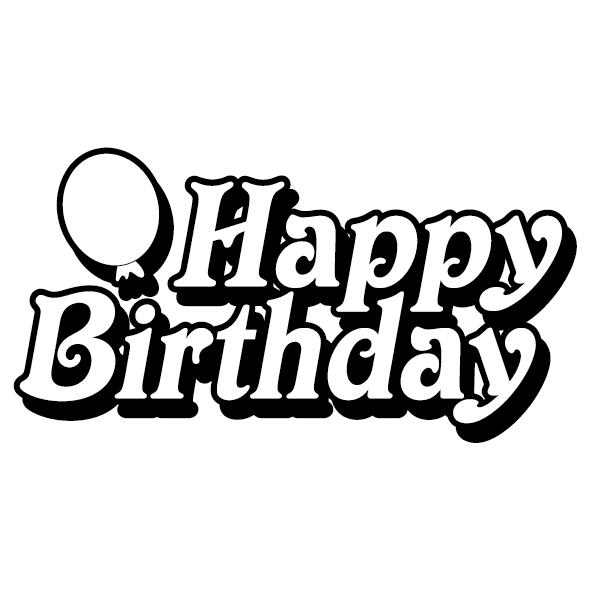 Achat Sticker happy birthday