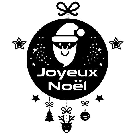 Sticker joyeux noël : 4