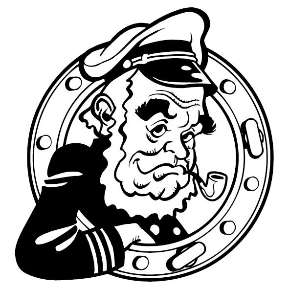 Sticker capitaine marin-01