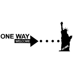 Sticker one way