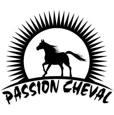 Sticker passion cheval : gauche