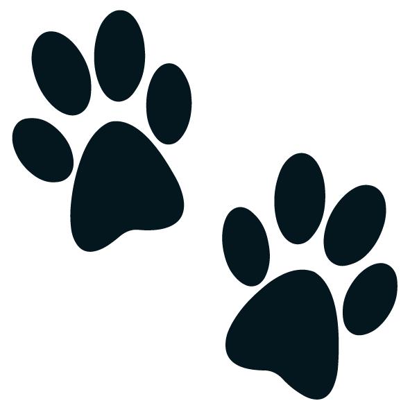 Sticker pattes de chien ultra r sistant petits prix - Image patte de chien gratuite ...