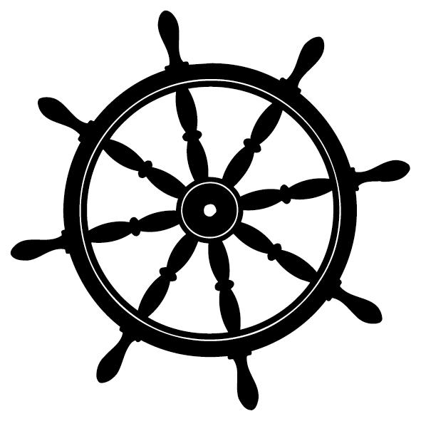 Sticker roue volant de bateau-01
