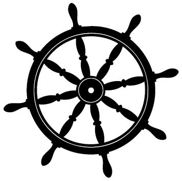 Sticker roue volant de bateau : 01