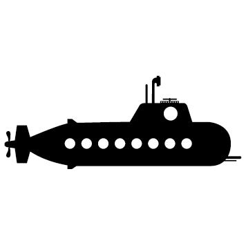 Sticker sous marin : 03