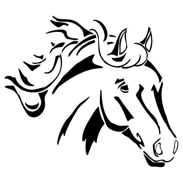 Sticker t te de cheval 1 ultra r sistant petits prix lettres adh sives 26 - Tete de cheval a imprimer ...
