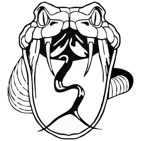 Sticker tête de serpent