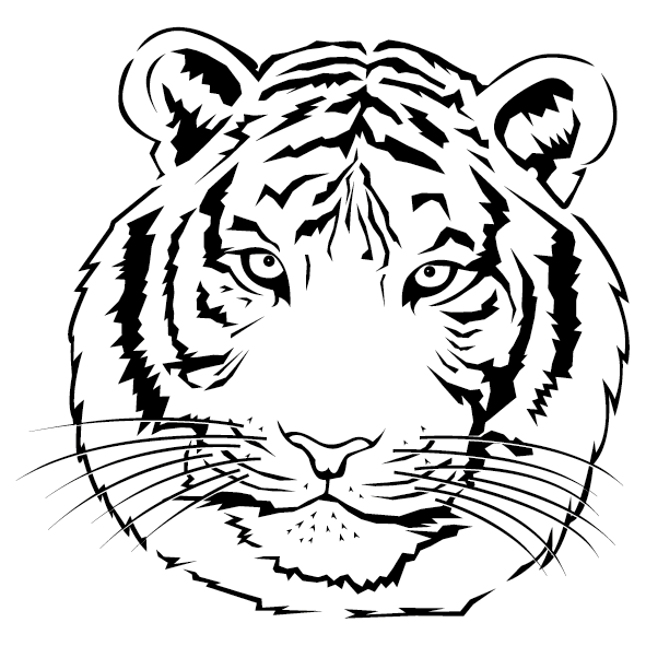 Sticker tête de Tigre