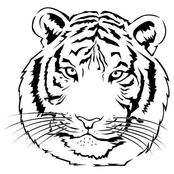 Sticker tête de Tigre