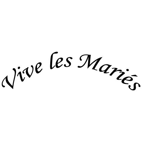 Achat Stickers vive les mariés : DECOMP04