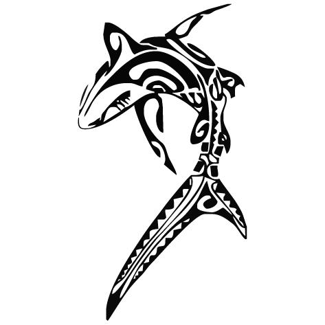 Sticker requin : 01