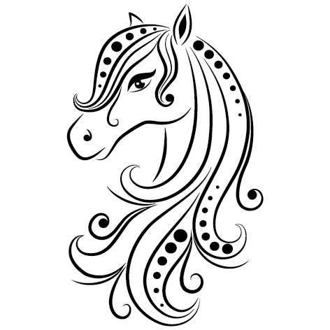 Jolie tête de cheval déco