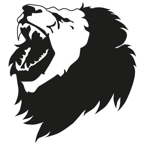Tête de lion qui rugit