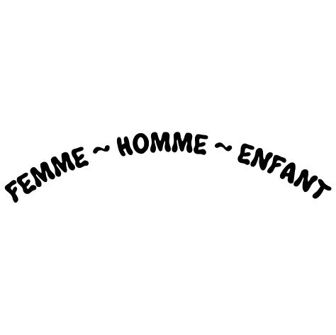 Achat Stickers:  FEMME ~ HOMME ~ ENFANT
