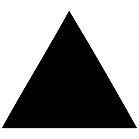 Sticker triangle plein