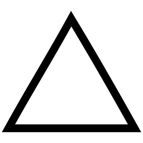Sticker triangle vide