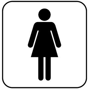 Sticker WC femmes